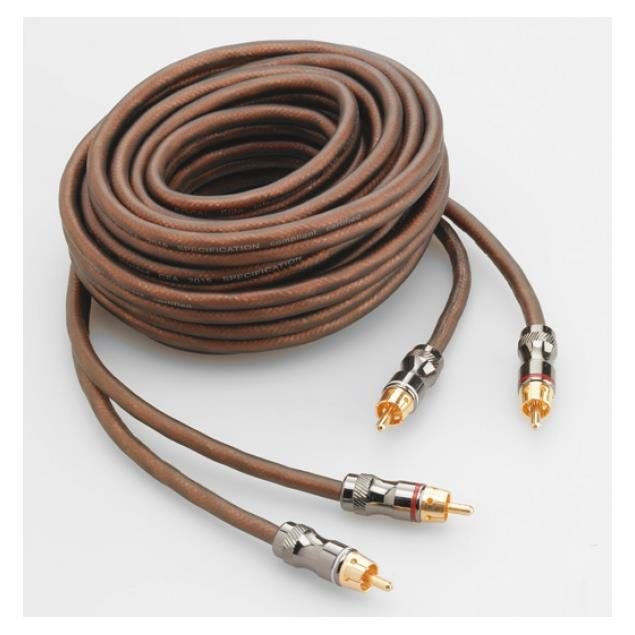 Focal Elite ER3 - RCA audio cable for amplifiers (high performance stereo cable / RCA-RCA / 3.0 m / coppery or milky-transparent / 1 pair)