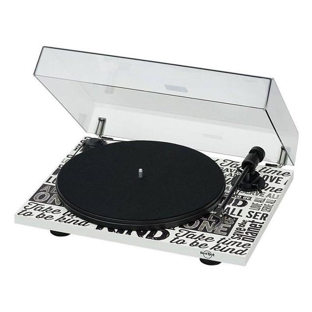 Pro-Ject Hard Rock Café special edition of the Primary - record player incl. tonearm + Ortofon MM cartridge OM10 (limited / white / incl. dust cover)