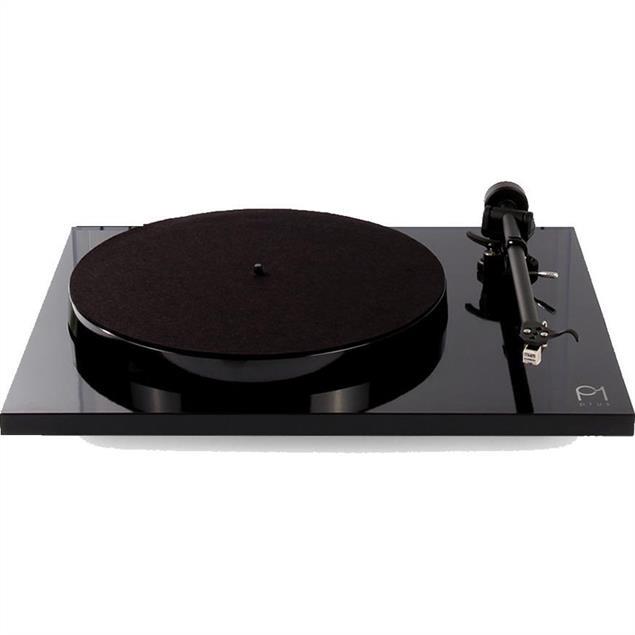 Rega Planar 1 PLUS - record player with phono stage (high-gloss black / incl. Rega CARBON MM cartridge / incl. Rega RB110 tonearm / 2018 version)