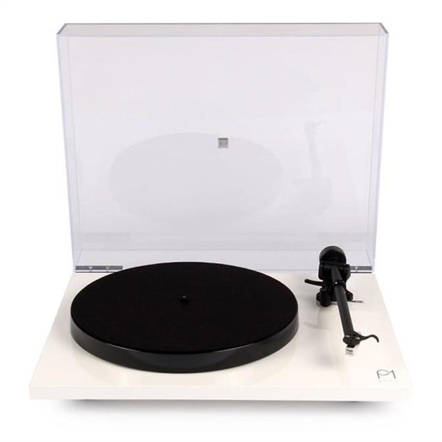Rega Planar 1 PLUS - record player with phono stage (high-gloss white / incl. Rega CARBON MM cartridge / incl. Rega RB110 tonearm / 2018 version)