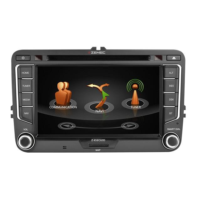 Zenec Z-E2026 - E>GO navigation device or vehicle specific naviceiver for VW, SEAT + SKODA models (DAB+ Infotainer with 7 inch TFT display / BT / for iPod/iPhone)