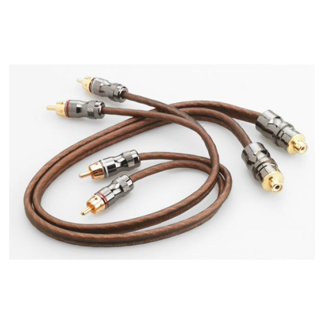 Focal Elite EY05 - Y-RCA audio cable for amplifiers (high performance cable / 1xRCA to 2xRCA / 0.5 m / coppery or milky-transparent / 1 piece)