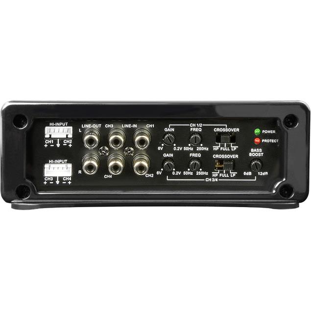 SPECTRON SP-N4207 - 4-channel amplifier (4 x 100 Watts / high-level input / for car hifi beginners / very good equipment)