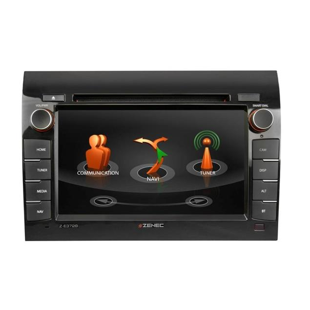 Zenec Z-E3726 - E>GO navigation device or vehicle specific naviceiver for FIAT Ducato models (Infotainer with 7 inch display / BT / made for iPod/iPhone)