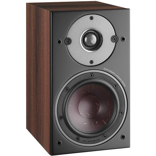 DALI Oberon 1 - 2-Way bass reflex bookshelf loudspeakers (25-100 Watts / dark walnut / 1 pair)