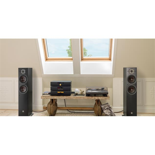 DALI Oberon 7 - 2-Way bass reflex floorstanding loudspeakers (30-180 Watts / black ash / 1 pair)