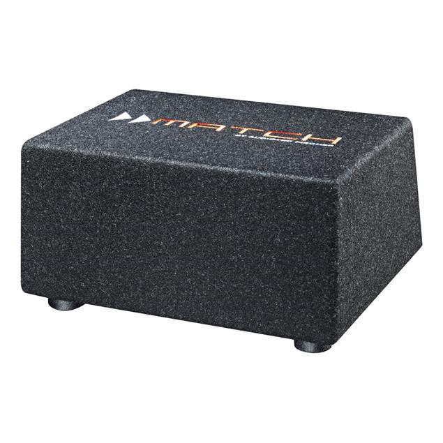 "MATCH PP 8E-Q - subwoofer (20 cm / 8"" / 200 Watts RMS / 400 Watts max / compact vented enclosure / incl. plug & play subwoofer connection cable)"