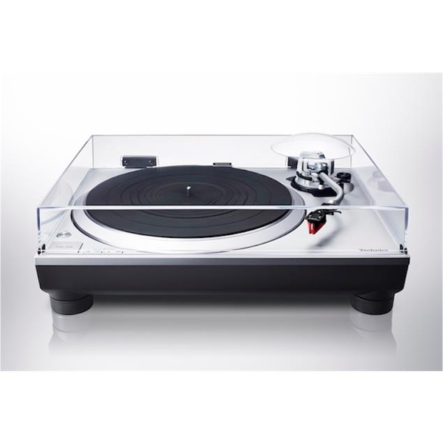 Technics Premium Class SL-1500C - record player (silver / incl. Ortofon - 2M Red - MM pickup / incl. phono preamplifier / + dust cover)