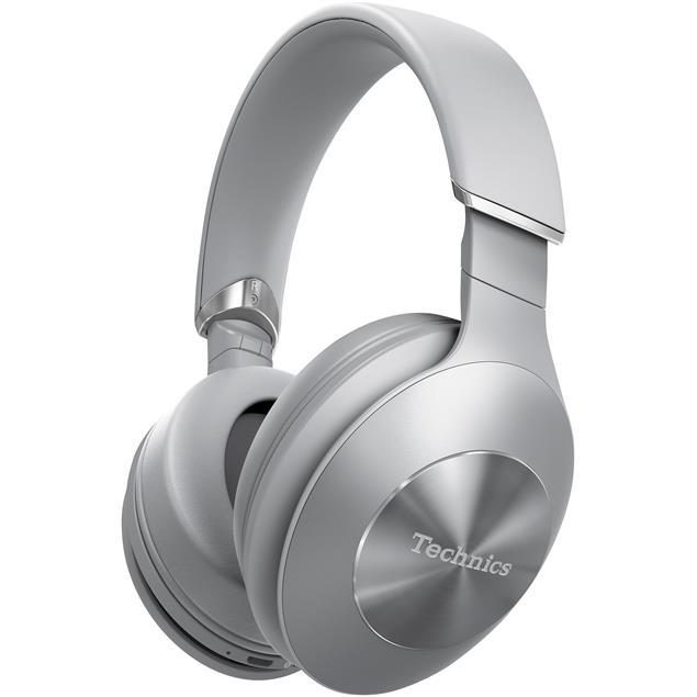 Technics EAH-F70N - premium Bluetooth headphones (40 mm driver / active hybrid noise canceling / incl. various cables & connectors / incl. transport box / silver)