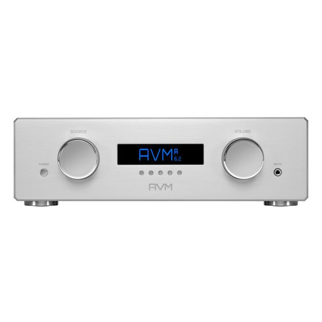 AVM OVATION A6.2 - MOS-FET high-current integrated amplifier (Class A/AB / over 225/400 Watts/channel / incl. RC 3 remote control / incl. flight case / silver)