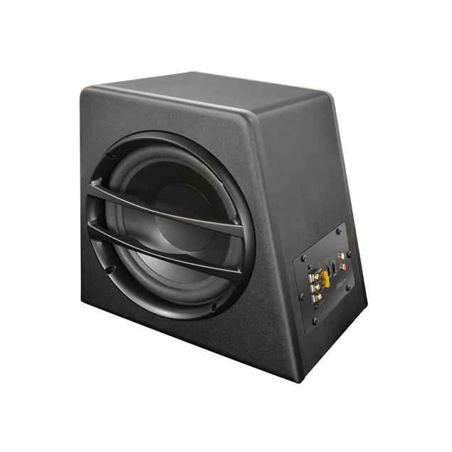 Axton AXB20A - compact active subwoofer (20 cm / 8 inch / 70 Watts RMS / black / phase shift, input gain and low pass controller on the front)