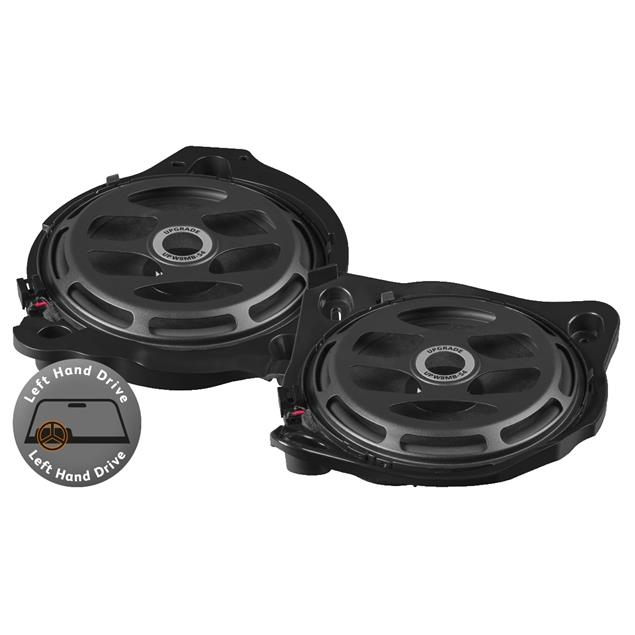 MATCH UP W8MB-S4 - upgrade subwoofers for Mercedes (100 Watts RMS / 200 Watts max. / 1 pair / incl. 2 x Mercedes or universal connection cable)