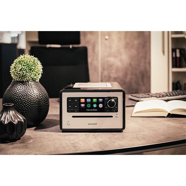 Sonoro Elite - internet radio with CD player (streaming / FM / DAB+ / WLAN / AUX / BT / Spotify / DLNA / UPnP / Amazon Music / Deezer / black)