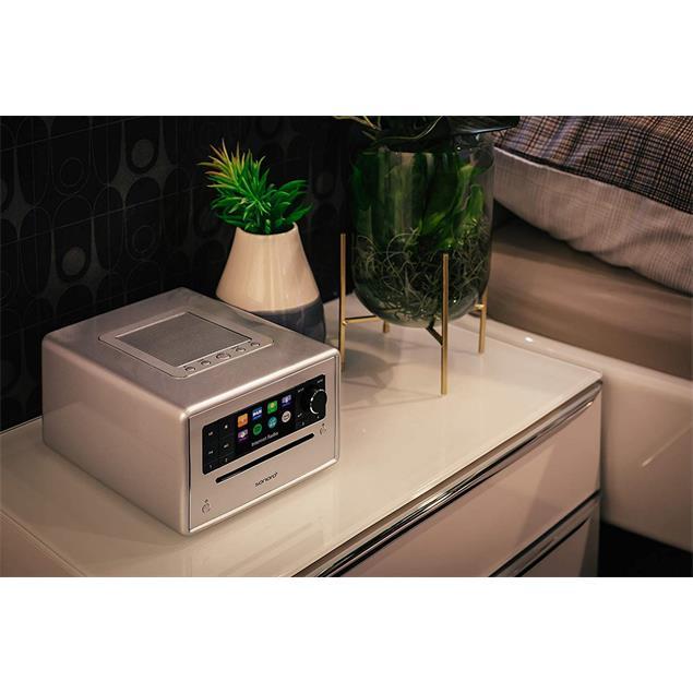 Sonoro Elite - internet radio with CD player (streaming / FM / DAB+ / WLAN / AUX / BT / Spotify / DLNA / UPnP / Amazon Music / Deezer / silver)