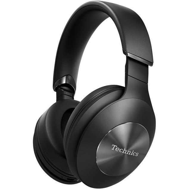 Technics EAH-F70N - premium Bluetooth headphones (40 mm driver / active hybrid noise canceling / incl. various cables & connectors / incl. transport box / black)