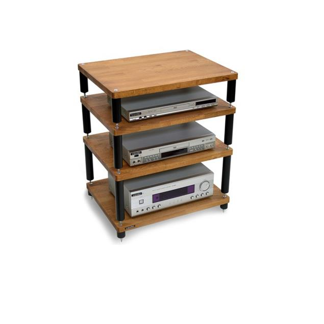 Atacama APOLLO - STORM 6 - high-quality hi-fi rack - 4 levels (total of 4 shelves made from dark solid oak / silk black modules / completely decoupled / incl. spikes)