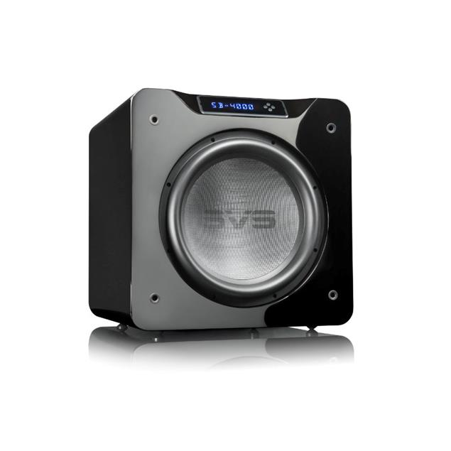SVS SB-4000 - Active subwoofer (1200 Watts RMS continuous power / 4000 Watts maximum peak / front firing 13.5 inch driver / piano gloss black)