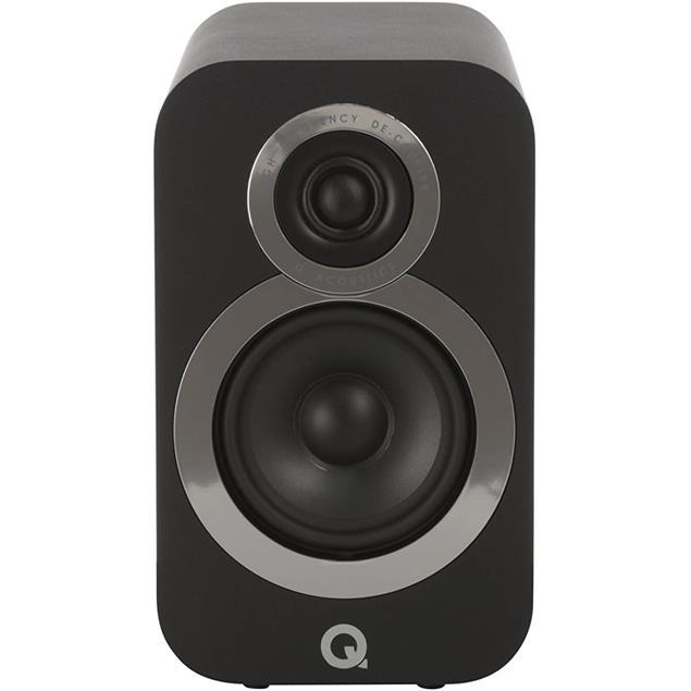 Q Acoustics 3010i - QA3516 - 2-way bass reflex bookshelf loudspeakers (Carbon Black / 1 pair)