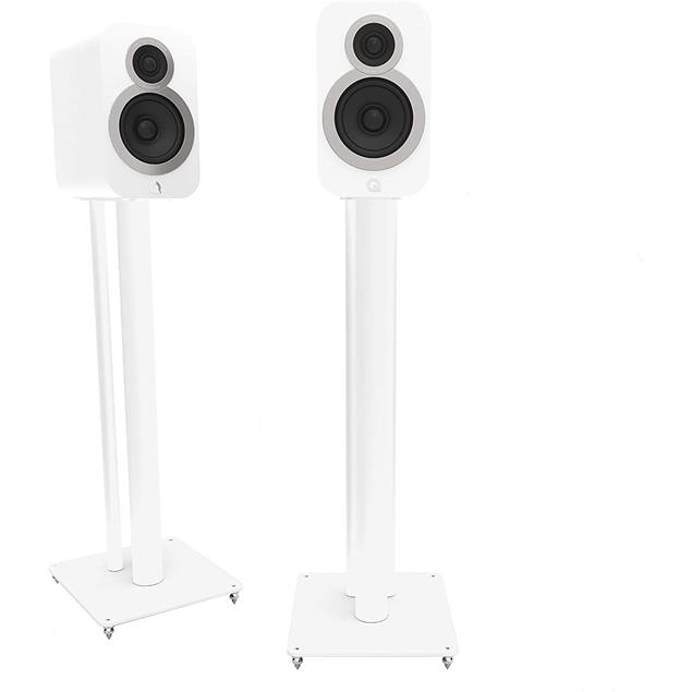 Q Acoustics Q3000 - QA3104 - loudspeaker stands (suitable for Q Acoustics 3010i + 3020i + also other various bookshelf loudspeakers / white / 1 pair)
