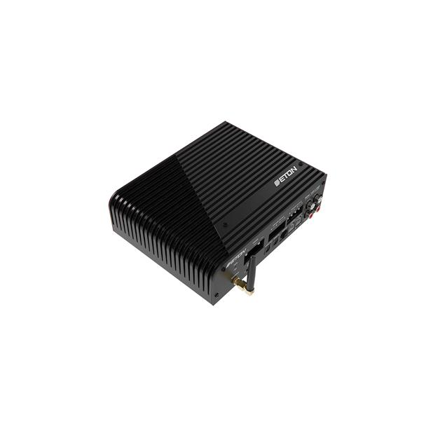 Eton MINI 150.4 DSP - 4-channel class-D amplifier (4 x 100 Watts RMS / innovative cooling fin design / incl. level remote control / black)