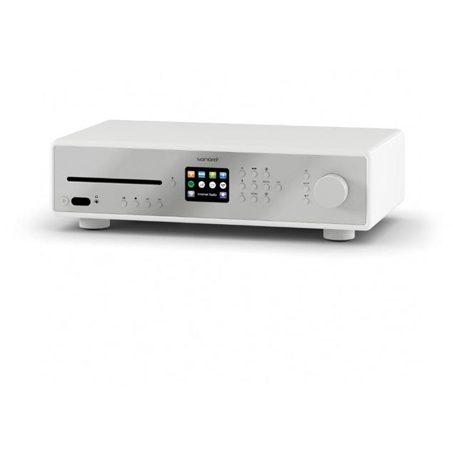 Sonoro MAESTRO - all-in-one hi-fi receiver with internet radio +  CD player + BT (white / UKW/FM / WLAN / DAB Plus / Spotify / Tidal / Amazon / Deezer / Napster / USB)