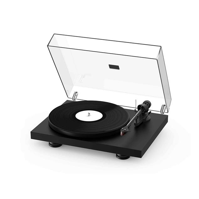 Pro-Ject Debut Carbon EVO - record player in matt black = elegant satin finish