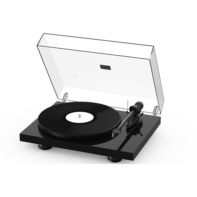 Pro-Ject Debut Carbon EVO - record player (high gloss black / incl. tonearm + Ortofon - 2M Red cartridge / dust cover)