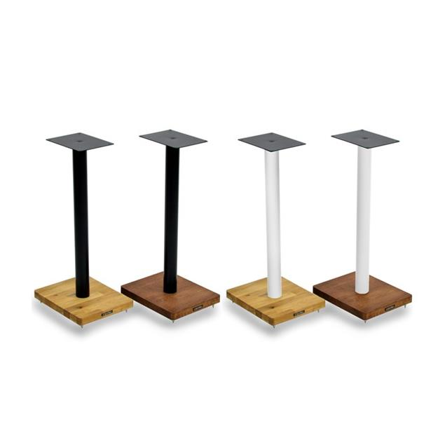 Atacama APOLLO - CYCLONE 6 - high-quality loudspeaker stands (615 mm / white & base plate made from light solid oak / incl. spikes / 1 pair)