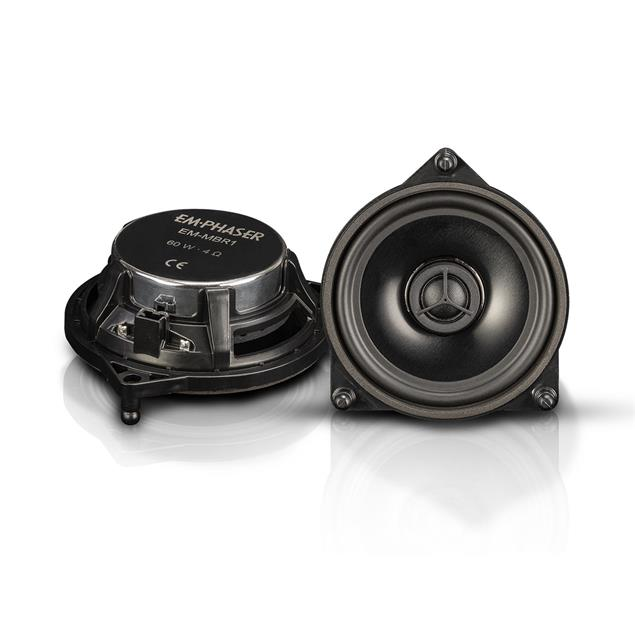 Emphaser M-MBR1 - rear door coaxial speakers for Mercedes (10 cm / upgrade loudspeakers for rear doors at Mercedes Benz / 30 Watts RMS / 60 Watts max. / 1 pair)