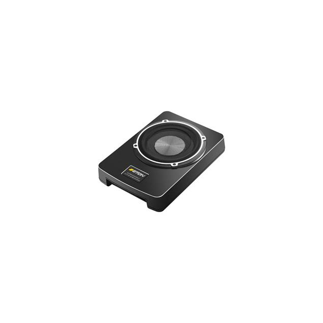 Eton USB 6 - active underseat subwoofer (16.5 cm/6.5 inch / underseat-mounted / 80/160 Watts RMS/MAX / incl. bass level remote control)