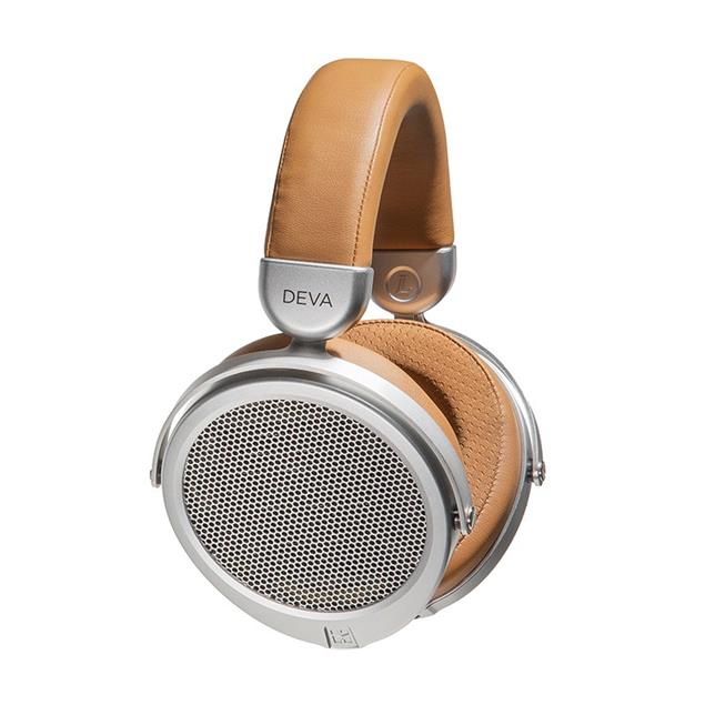 HiFiMAN DEVA Wired - magnetostatic headphones (premium stereo headphones / incl. headphone cables / silver and light brown design)