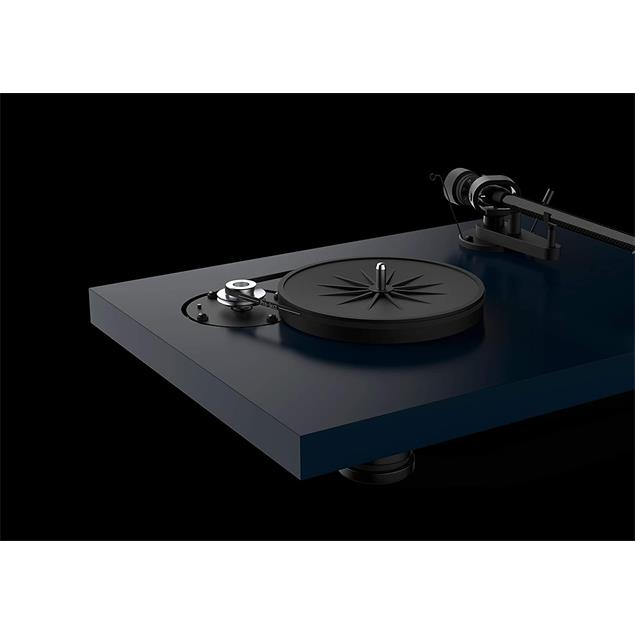 Pro-Ject Debut Carbon EVO - record player (satin steel blue / incl. tonearm + Ortofon - 2M Red cartridge / dust cover)