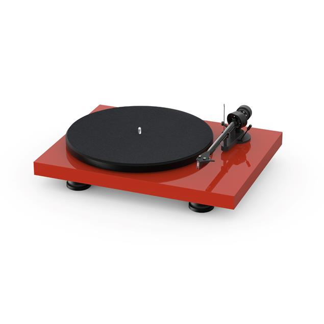 Pro-Ject Debut Carbon EVO - record player (high gloss red / incl. tonearm + Ortofon - 2M Red cartridge / dust cover)