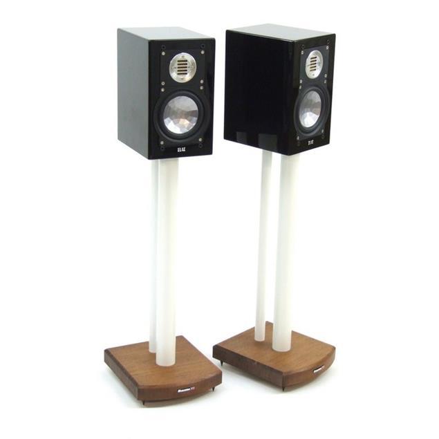 Atacama Moseco 6 - loudspeaker stands (615 mm / white & base plate made of dark bamboo solid wood = dark bamboo / 1 pair)