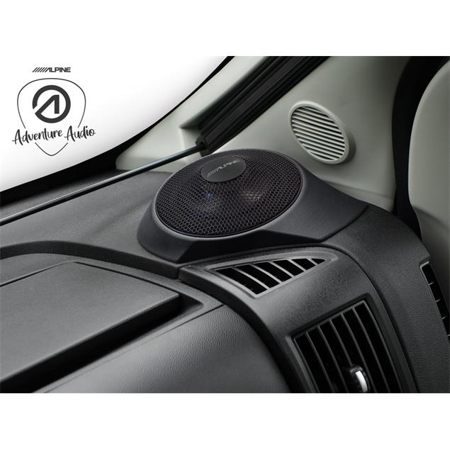 ALPINE SPC-R100-DU - loudspeakers for FIAT Ducato III (12.0 cm / 4.7 inch / 45 Watts RMS / incl. on-dash mounting brackets / 1 pair)