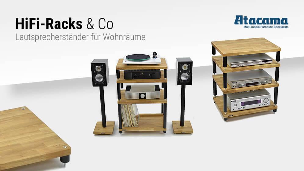 HiFi-Racks & Co - Lautsprecherständer für Wohnräume