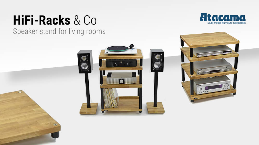 Atacama HiFi-Racks & Co - Speaker stand for living rooms