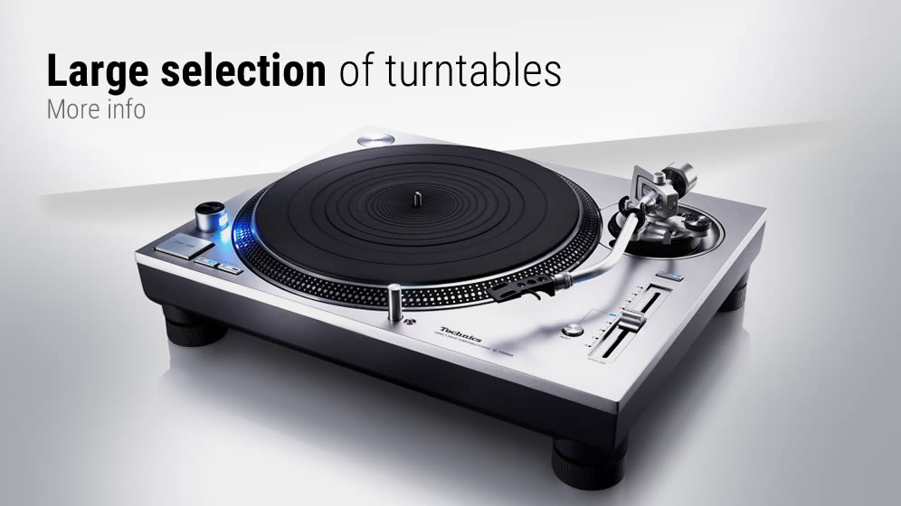 Large selection of turntables